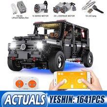 Yeshin 20100 dhl técnica carro compatível com novo MOC 2425 g500 awd conjunto de blocos de construção tijolos criança app rc motor carro brinquedo