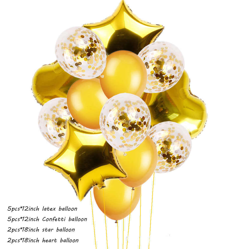 بالونات ألومنيوم من اللاتكس 12 بوصة 18 بوصة زينة لحفلات أعياد الميلاد للأطفال الكبار Globos Balony patio versaire Baloon السنة الجديدة