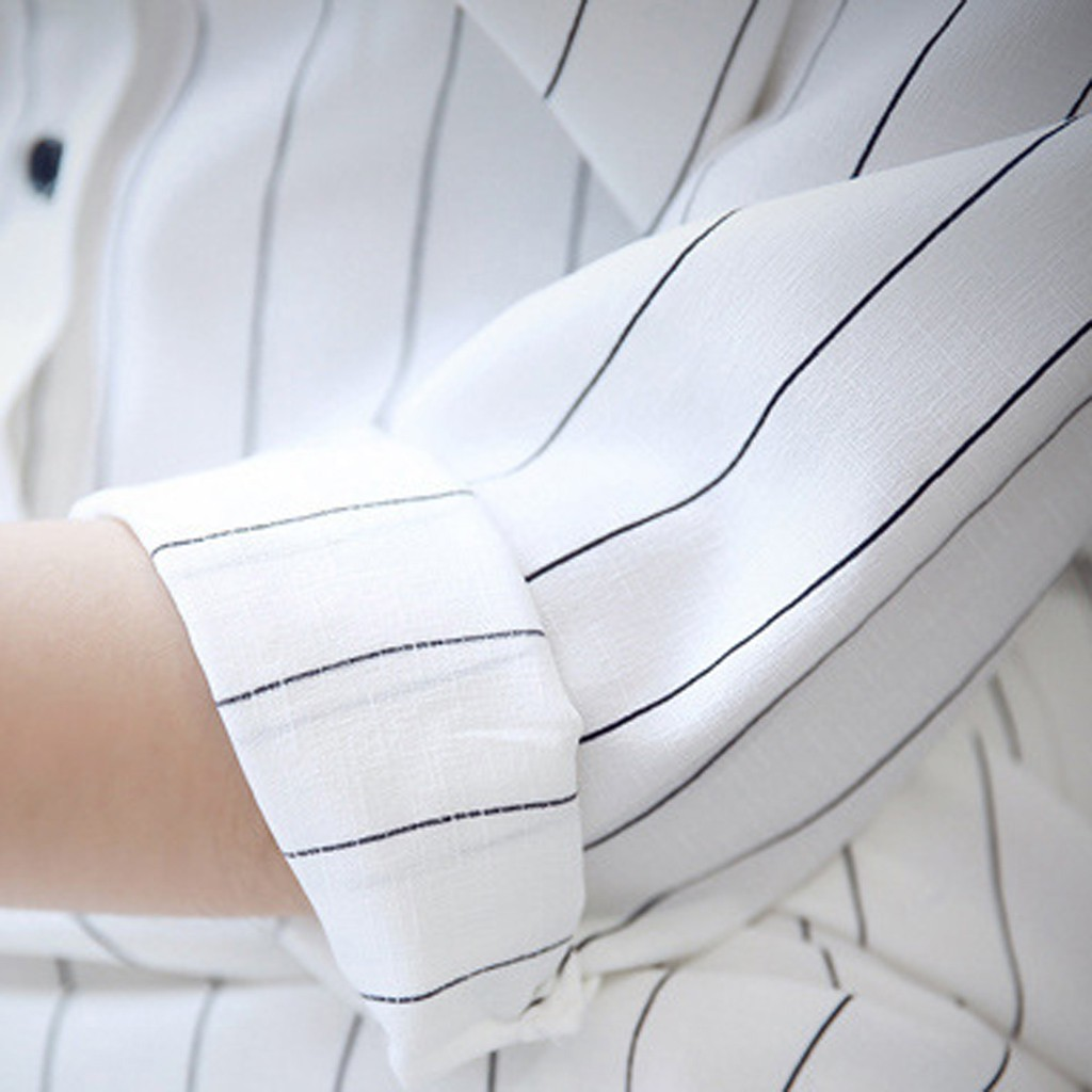 New Fashion Women Shirt Dress Long Sleeve Lapel Stripe Dress Leisure Dress Sexy Slim Pure Color