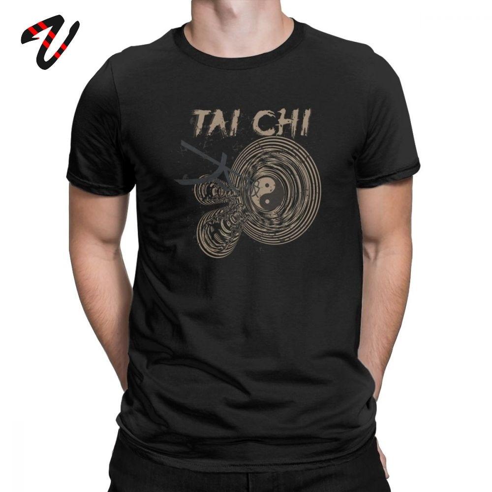T Shirts Tai Chi Chuan Chinese Kung Fu Funny  Tees Men T Shirt Round Neck Shirts 6XL