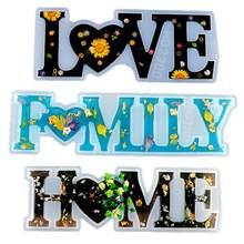 Casa diy família amor resina cola epoxy molde de fundição ornamento fazendo silicone moldresina epoxi transparente 1 litro moldes de silicona