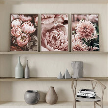 Peony Flower 5d Diy diamond Painting Cross Stitch full square round Gold Floral diamond embroidery home decor nordic art gift,