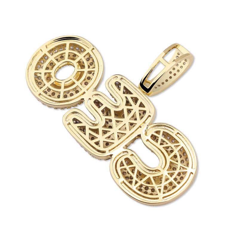 Topgrillz nome personalizado bolha letras pingente colar hip hop masculino personalizado jóias ouro prata charme correntes presentes