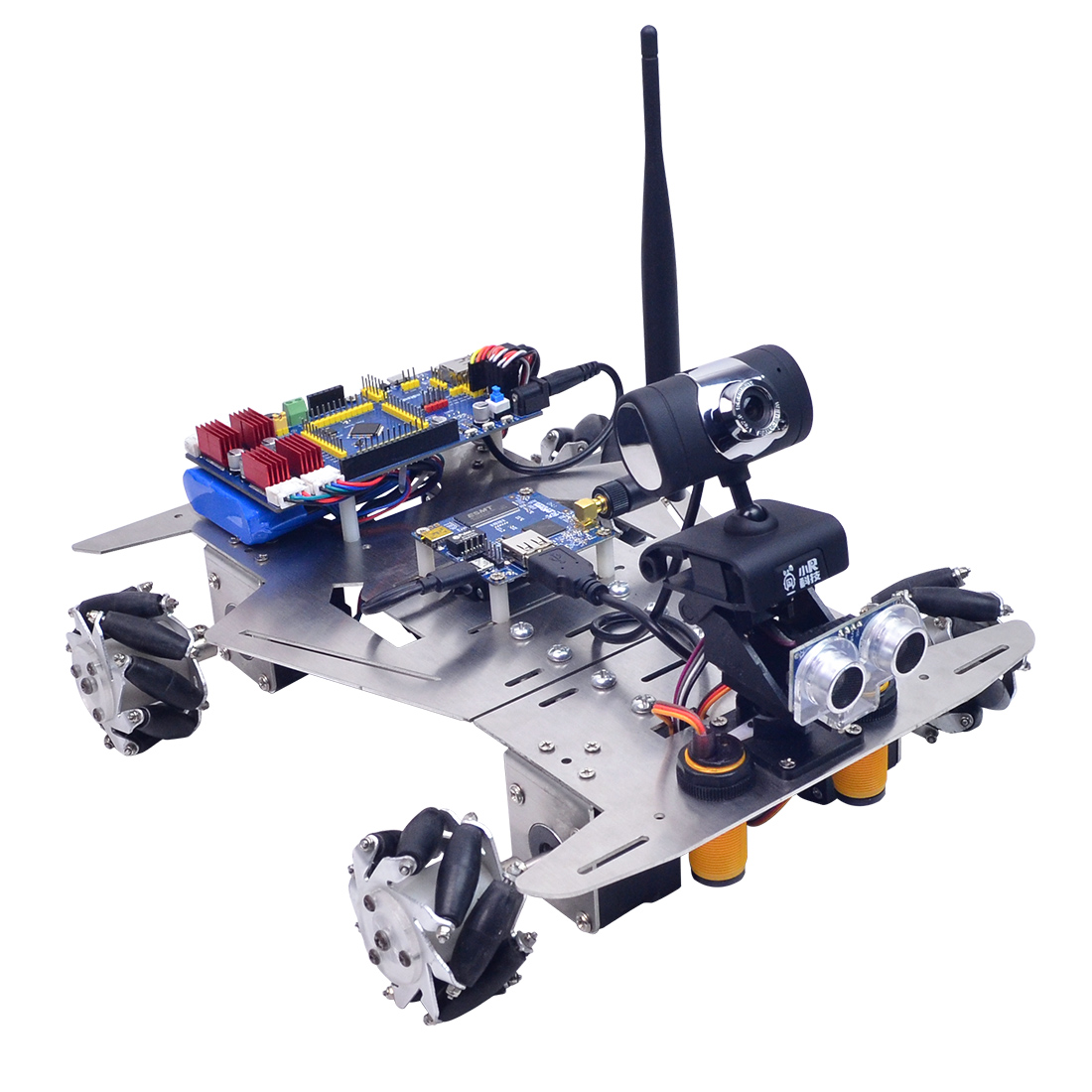 XR Master Omni-Directional Mecanum Wheel Robot Programmable Toys For Kids - WIFI Version / WIFI + Bluetooth Version