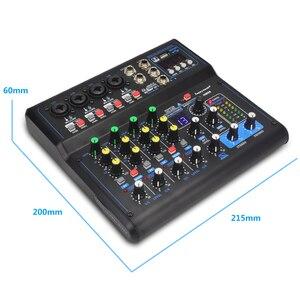 Image 5 - 전문 믹서 HM 시리즈 6 채널 8 채널 USB 사운드 카드 16 DSP 사운드 콘솔 장비 DJ 믹서 USB 사운드 카드
