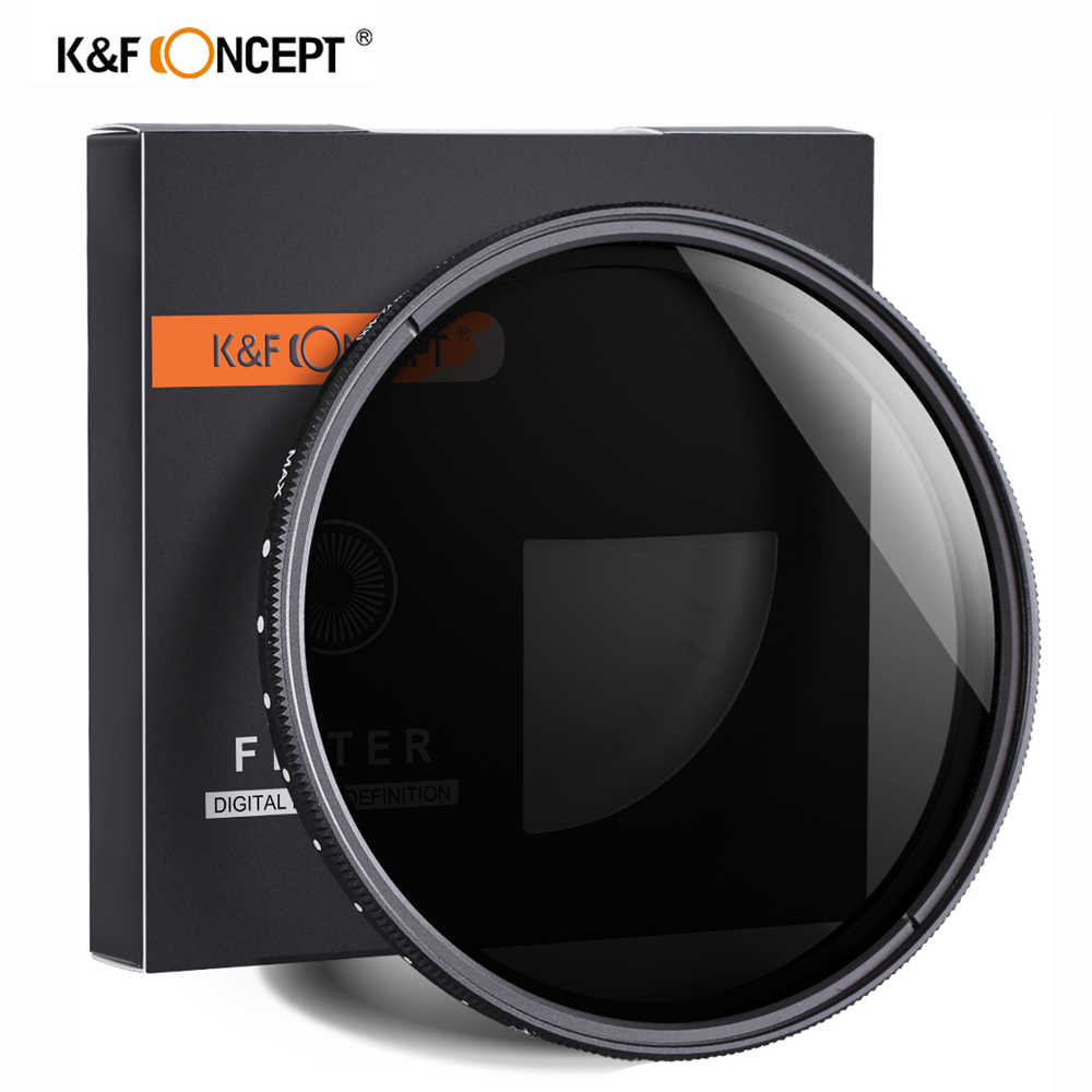 K & F Concept ND2-400 Nd Filter 37/40.5/43/46/49/52/55/62/67/72/77Mm verstelbare Neutral Density Fader Variabele Camera Lens Filter