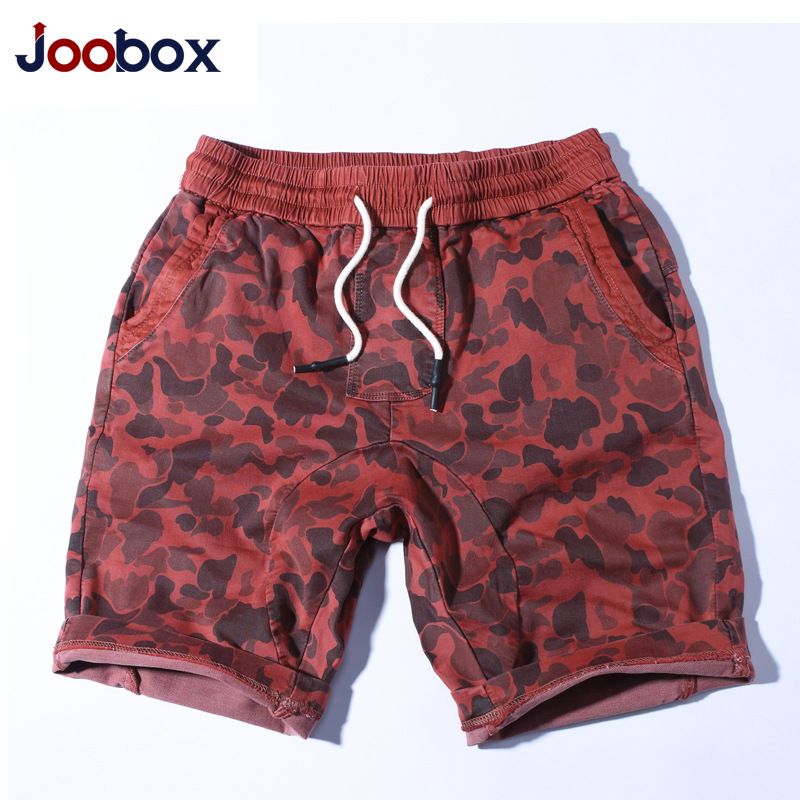 Joobo Large Size MEN'S Beach Pants Men Ouma Holomorphic Casual Shorts Elastic Band Camouflage Shorts AliExpress