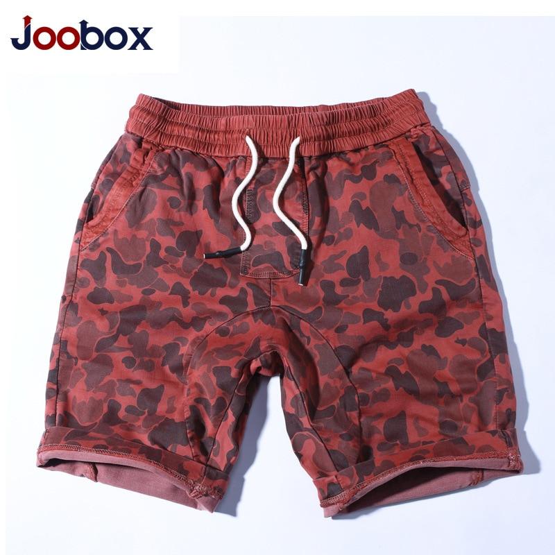 Joobo Large Size MEN'S Beach Pants Men Ouma Holomorphic Casual Shorts Elastic Band Camouflage Shorts AliExpress