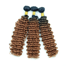 Hair Synthetic-Hair Deep-Wave Ombre Premium Color 100g Adorable Two-Tone Wicks Heat-Resistant-Fiber