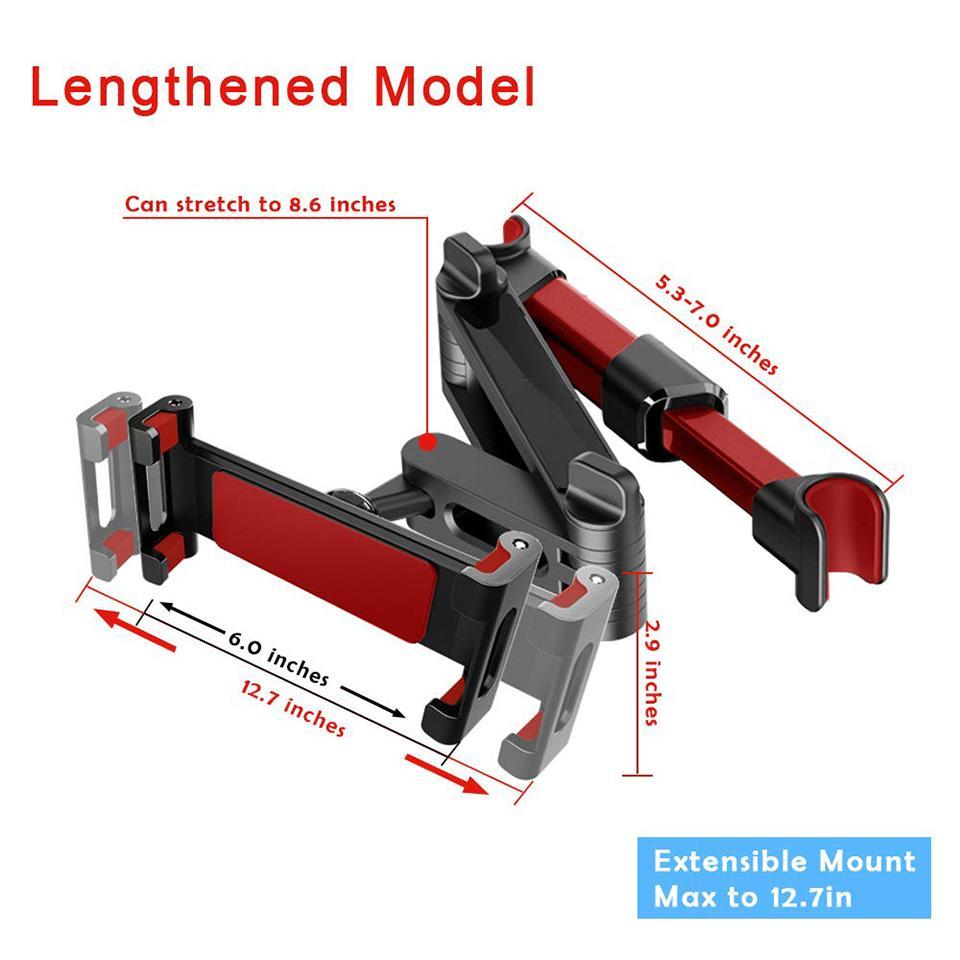 Suporte telescópico para celular, suporte para parte traseira de assento para carro, para viagem, dispositivo com sob 12.9 polegadas
