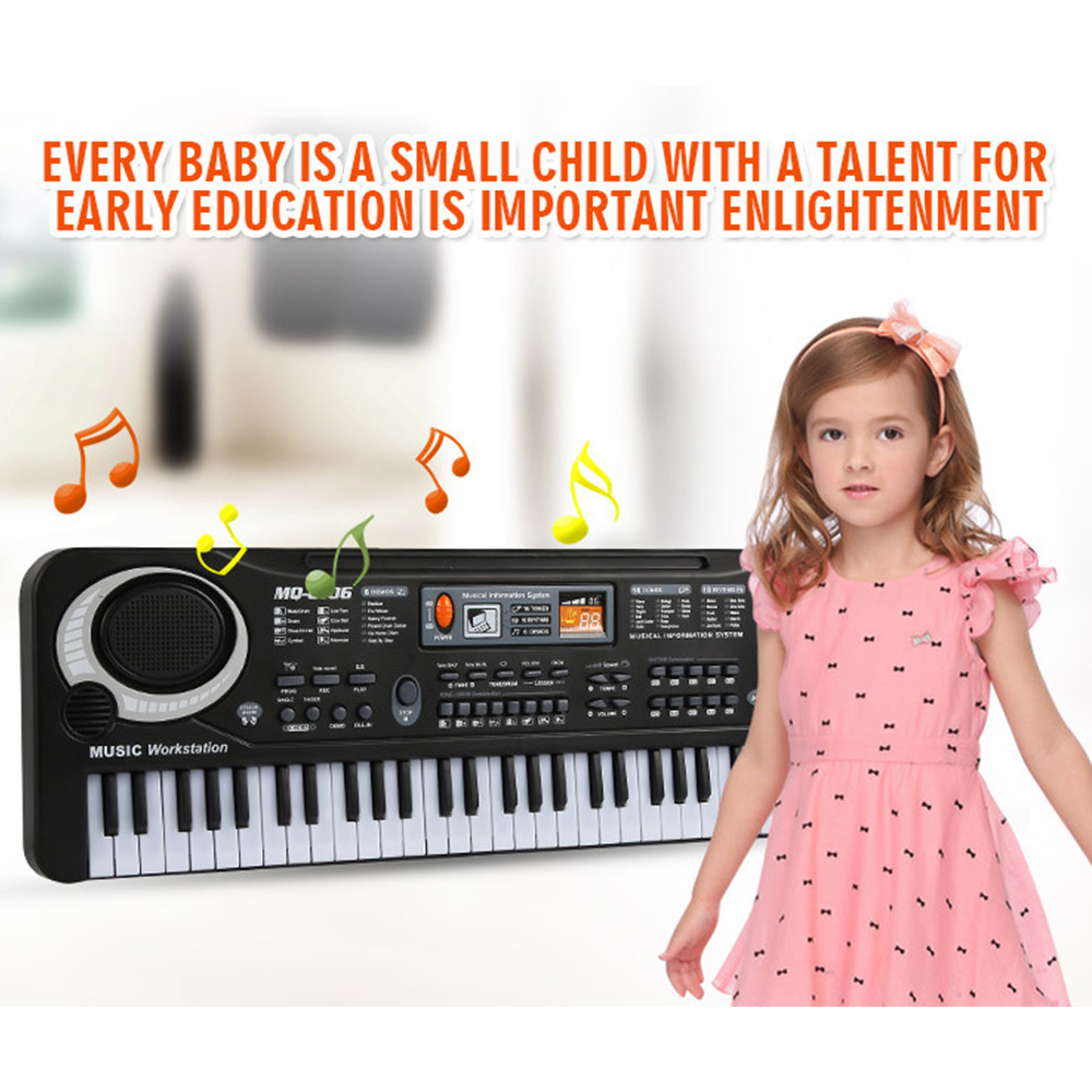 Kids Music Toys 61 Keys Digital Music Electronic Keyboard Key Board Electric Piano With Microphone Children Gift Eu /US Plug