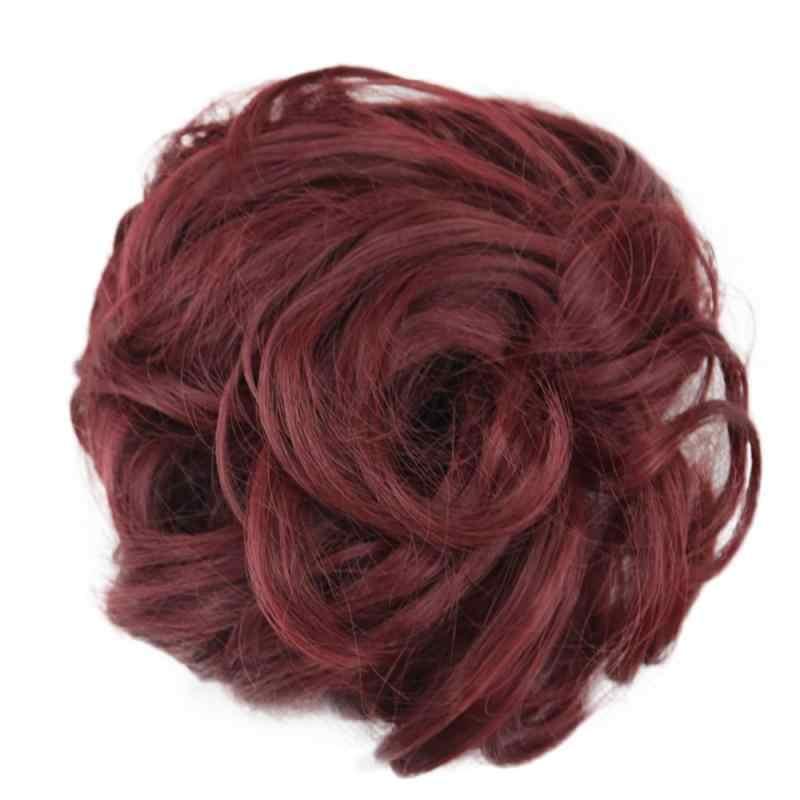 1 pièces Extensions de chignon synthétique bouclés désordre chignon cheveux chouchous élégant Chignons mariage pièce de cheveux pour femmes et enfants