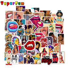 50Pcs Big breast Waterproof Tease Vulgar Sexy beauty Girls Stickers For Motorcycle Skateboard Luggage Toy Decor Sticker