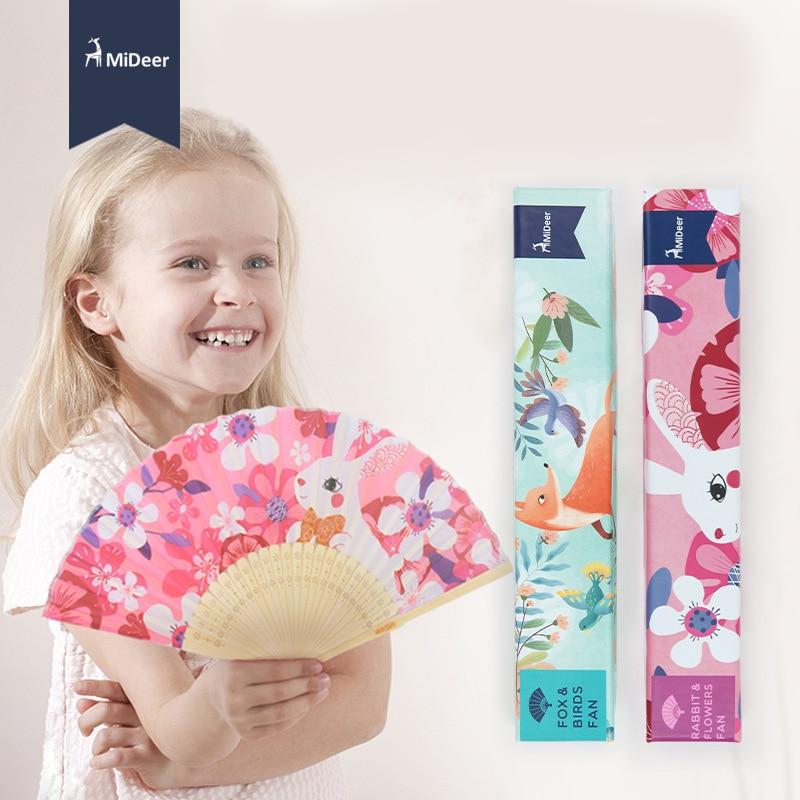 MiDeer Mi Deer Children's Cute Multi-color Small Folding Fan Cartoon Animal Portable Cool Carry-on Cloth Fan