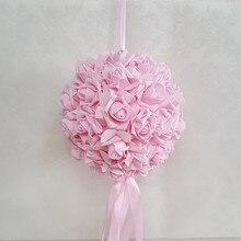 Düğün odası dekorasyon çiçek topu köpük gül düğün öpüşme topları açılış kutlama merkezi dekorasyon topu asılı top