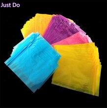 8*12cm 100pcs Plastic Zip Lock Bag Colorful Zipper Ziplock Storage Bag Transparent Poly Bag yellow blue purple pink Packaging