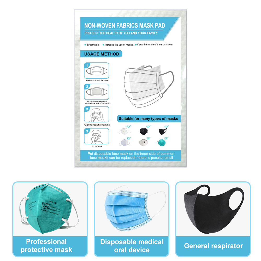 Medical Disposable 10/20/50/100PCS Filter Sheet Mask Gasket Filter Anti Virus Mask Pads Protective Mask Safety Masks