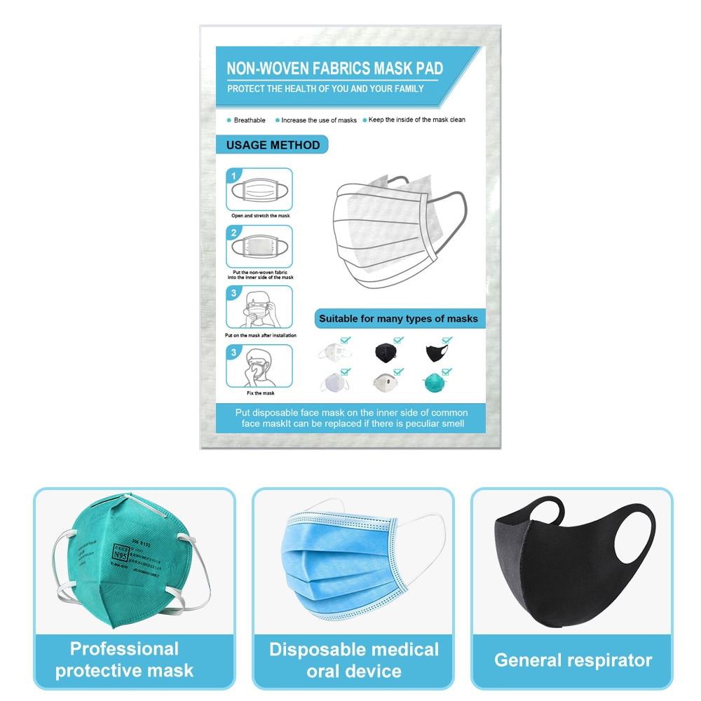 Medical Disposable 10/20/50/100PCS Filter Sheet Mask Gasket Filter Mask Pads Protective Mask Safety Masks