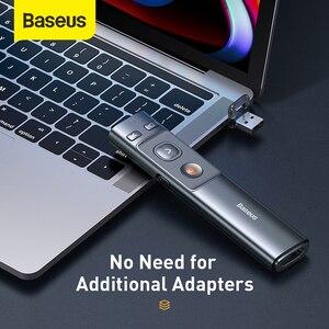 Image 3 - Baseus ワイヤレスプレゼンターペン 2.4 2.4ghz の usb c アダプタハンドヘルドリモートコントロールポインター赤ペン ppt パワーポイントポインター