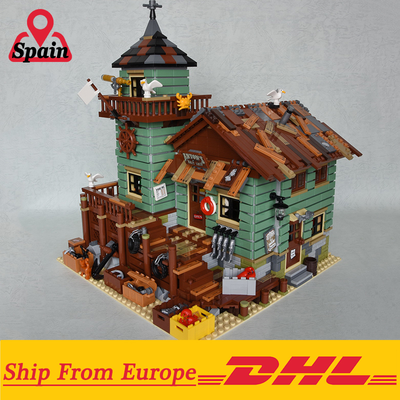 2294Pcs MOC Series 16050 Old Fishing Store Set Compatible With Legoings house Building Blocks Bricks Educational Kids Toy 1