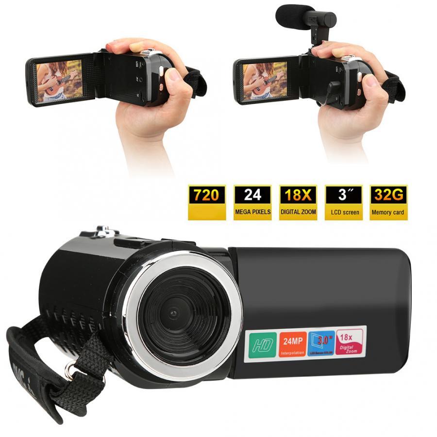 Nouveau 3 pouces écran LCD 18X Zoom numérique haute définition DV caméra caméscope