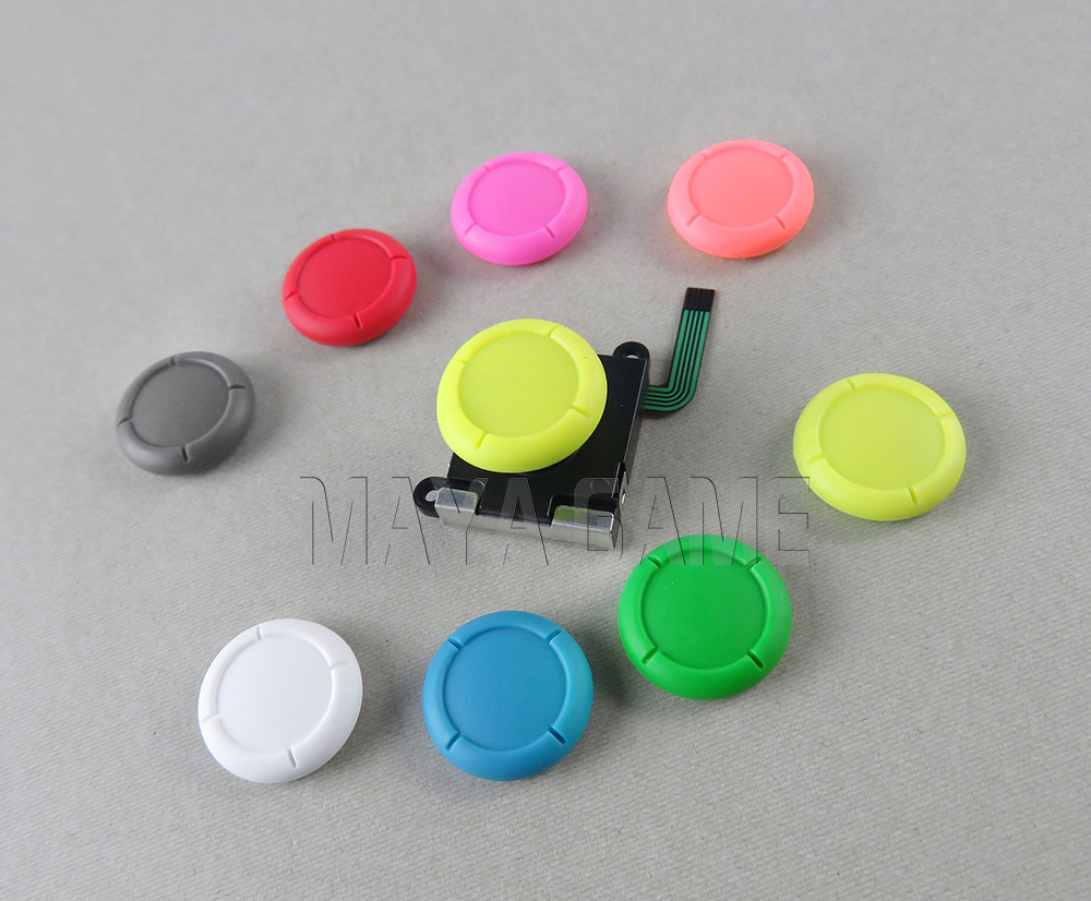 1pc Silicone Thumb Stick Grip Caps 3D Analog Joysticks Cover Case For Nintend Switch Lite NS Controllers Joy-Con Joypad
