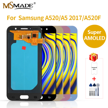 Super AMOLED For Samsung Galaxy A5 2017 SM-A520F A520 LCD Touch Screen Digitizer Assembly Parts For Samsung A520F LCD Screen