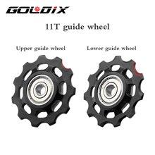 GOLDIX MTB Fahrrad Pulley Rad Nylon Faser 11T 12T Rennrad Jockey Schaltwerk Reparatur Kit für Shimano sram X01 XX1 GX NX