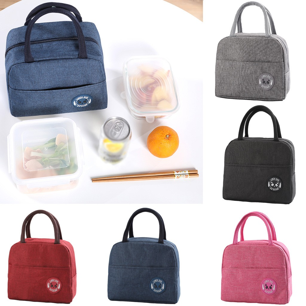 Unisex  Outdoor  Fashion Simple Style Large Capacity Waterproof Lunch Bag Picnic Lunch Bags For Women Kid Men