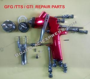 Repuestos de reparación de pistola pulverizadora (agujas, boquillas, tapas de flujo, tapa de aire, interruptor, anillo O) para GTi pro lite/TTS/GFG PRO pistola accesorio