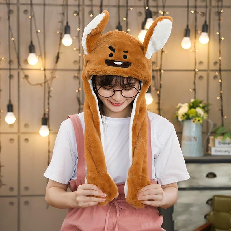 Различные стили милый кролик шляпа с светильник Забавный воздушный поплавок наполнение уха подвижная крышка мультфильм плюшевые игрушки подарки для ребенка - Цвет: Многоцветный
