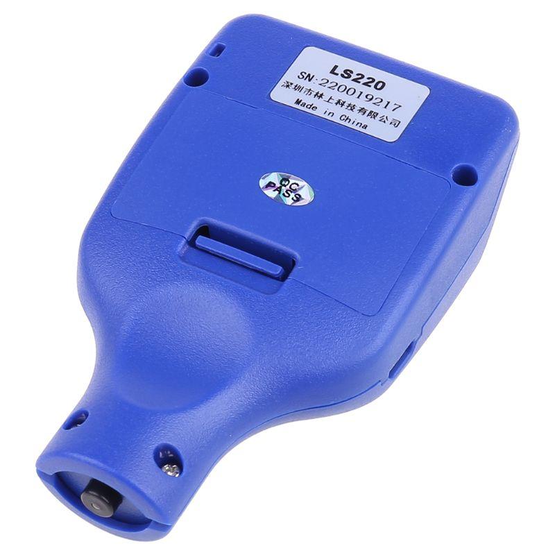 Testeur dépaisseur de revêtement de peinture 0-2000μm 0.1μm Fe jauge de sonde NFe LS220 pour voiture automatique P0RE