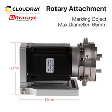 Dispositif rotatif Ultrarayc diamètre 69mm axe d'expansion rotatif + pilote pour Machine de marquage Laser à fibres et Machine de gravure Co2