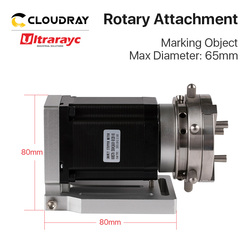 Ultrarayc Laser Marking Machine Rotary Device +DM542S Driver Expansion Axis Rotary Attachment for 1064nm Fiber Engraving Machine