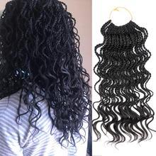 """DAIRESS 1"""" 35 прядей волнистые Сенегальские скрученные вязанные крючком волосы косички волнистые концы свободные кудрявые вязанные крючком скрученные плетеные волосы для наращивания"""