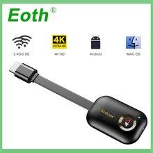 جهاز استقبال للتليفزيون Miracast لairplay لـ netflix 5G 4K لاسلكي لـ HDMI لنظام أندرويد لـ google لـ chromecast dvb dongle لـ cromecast