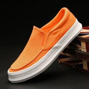 Image 2 - Кроссовки Monstceler мужские холщовые, повседневная обувь, без шнуровки, толстая плоская подошва, роскошная Вулканизированная подошва, весна осень