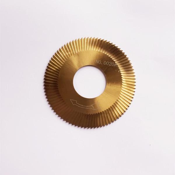 70*1.3*25.4mm 0020A carbide face three-sided blade titanium hard metal steel for Wenxing car key milling cutter 100D.100E.100E1.