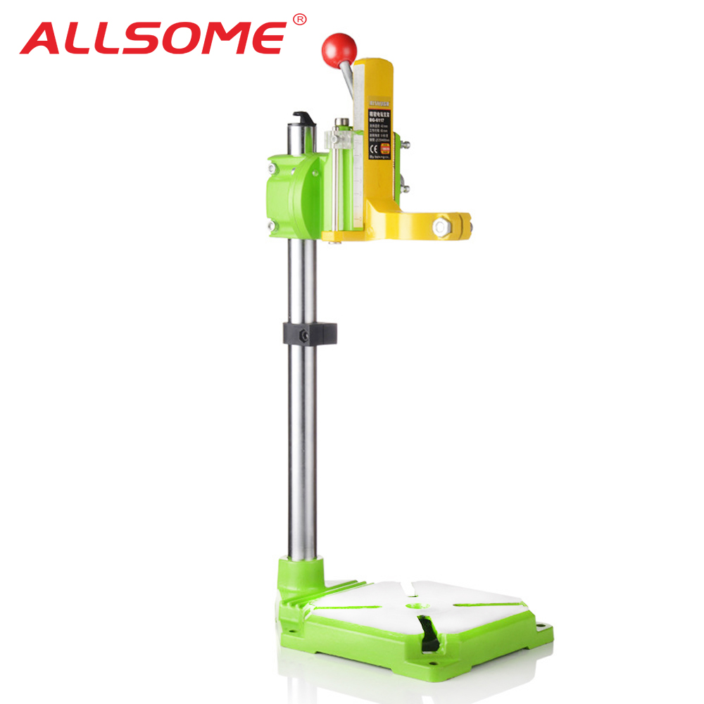 ALLSOME MINIQ Electric Power Drill Press Stand Table For Drills Workbench Clamp Drilling Collet 35 43mm 0 90 Degrees HT2671