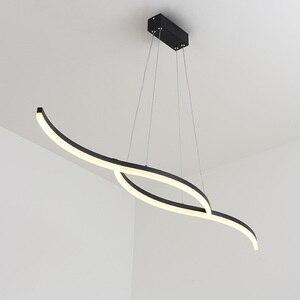 Image 1 - Minimalism modern led pendant lights for dining room kitchen black/white aluminum Pendant lamp suspension luminaire lustre led