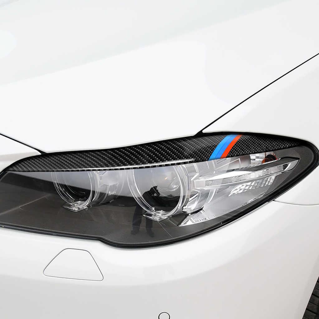 Cặp Đôi Sợi Carbon Đèn Pha Lông Mày Mi Mắt Dành Cho Xe BMW Series 5 F10 2010-2013