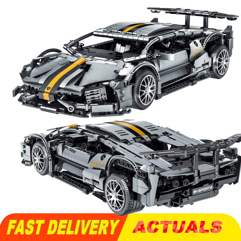 Конструктор MOC Technic, суперспортивный гоночный автомобиль 023015, имитация Ламборгини, строительные блоки, модели, кирпичи, комплекты для детей, ...