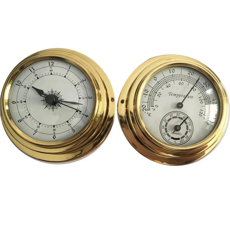 Термометр гигрометр барометр часы 2 весь набор Метеостанция метр