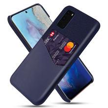 Luksusowe tkaniny skórzane etui na telefony do Samsung Galaxy S20 S20 + S20 Ultra 5G S10 Plus A51 A71 A50 A70 Slot kart chronić tylną pokrywę