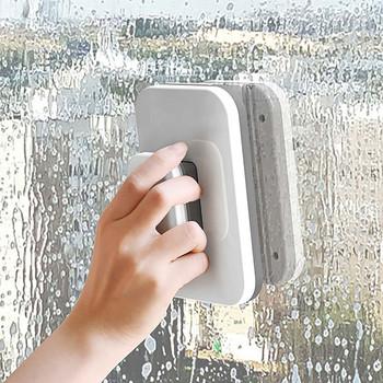Szklana powierzchnia wycieraczki dwustronne magnetyczne urządzenia do oczyszczania gąbka płyn do szyb urządzenia do oczyszczania gąbki magnetycznej urządzenia do oczyszczania okien tanie i dobre opinie ISHOWTIENDA CN (pochodzenie) Home Improvement
