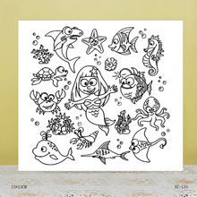 AZSG adorable animal Clear Stamps For DIY Scrapbooking/Card Making/Album Decorative Rubber Stamp Crafts