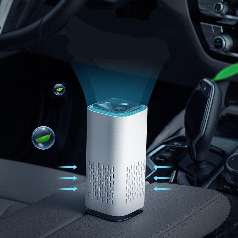 Автомобильный очиститель воздуха, мини-очиститель воздуха с отрицательными ионами, USB, домашний автомобильный очиститель воздуха, удаление...