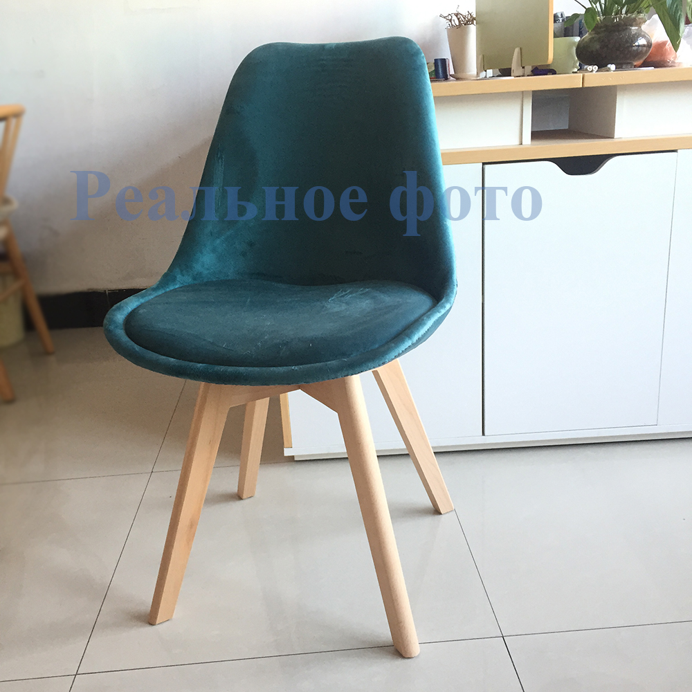 4 Pcs Dining Chair Kitchen Chair On A Wooden Base Velvet Seat Wood Chair Kitchen Furniture Free Delievry To Russia
