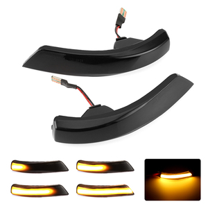 2pcs Dynamic Turn Signal Light LED Side Wing Rearview Mirror Indicator Blinker Light For Ford Focus 2 3 Mk2 Mk3 Mondeo Mk4(China)
