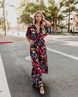 plus size party dresses sexy print red dress women clothes 2018 bohemian sashes batwing sleeve clothes fall 2019